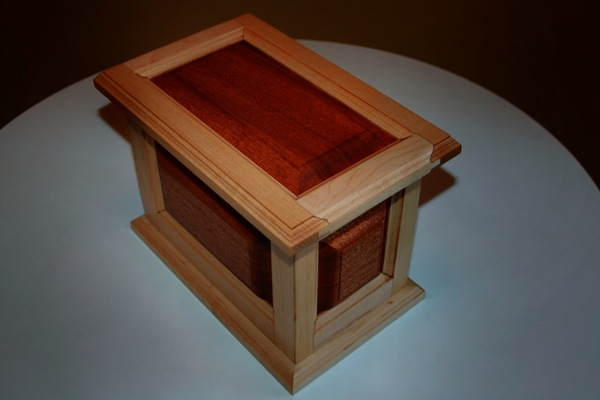 Urn No.4 - Maple and mahogany